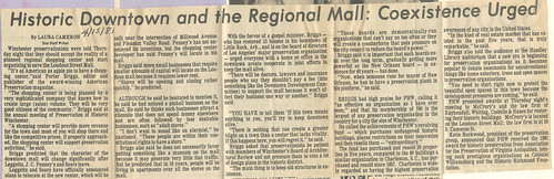 Historic Downtown and the Regional Mall Coexistence Urged | by phwinc