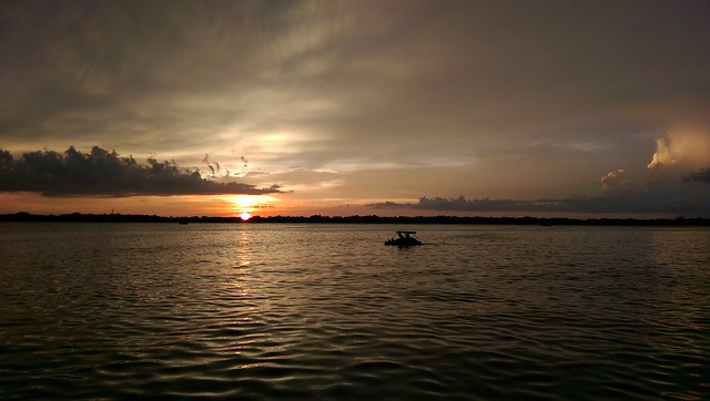 Sunset on Lake Conway @ Lake Conway Sandbar