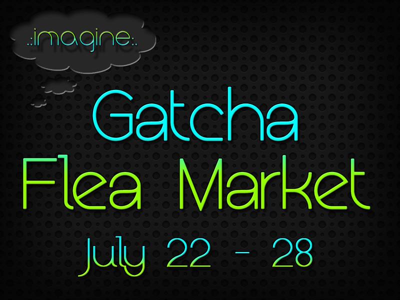 Gatcha Flea Market Sign