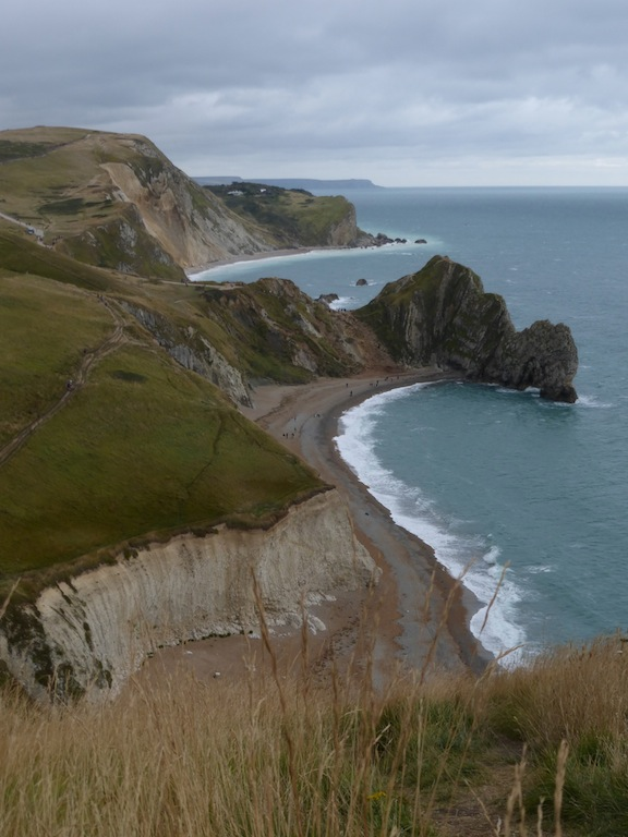 Looking back at Durdle Door