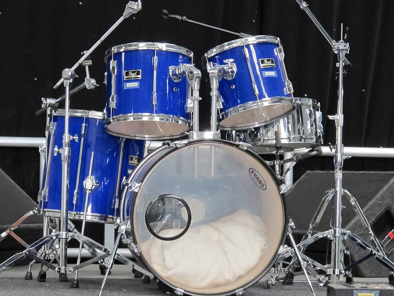 Indoor stage drums