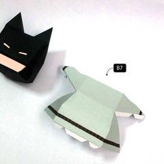 วิธีทำโมเดลกระดาษแบทแมน (Batman Papercraft Model) 009