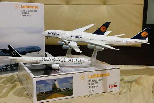 Lufthansa 747-8i + A380 + EVA Airways 777-300ER | by benck75