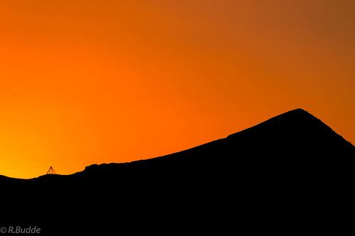 westusa yermo california usa us sunset black hill orange silhouette flickr ralfbudde