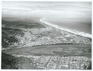 Aerial view of Greymouth, West Coast