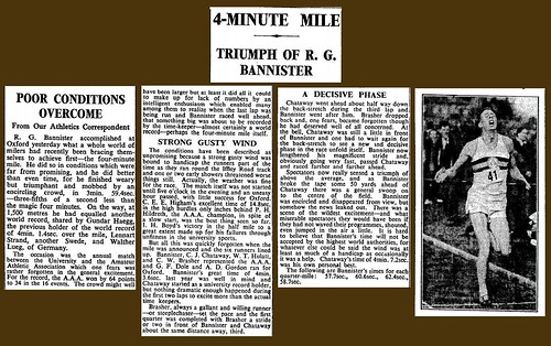 6th May 1954 - Roger Bannister runs mile under four minutes | by Bradford Timeline