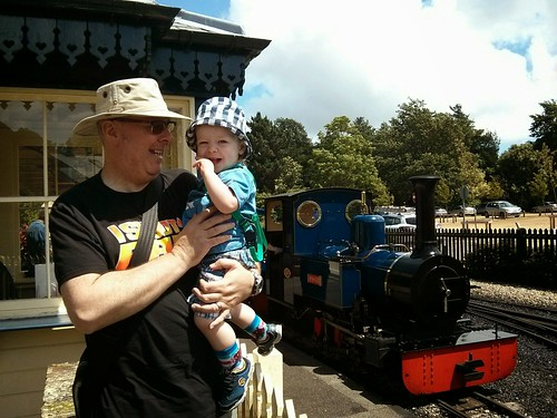 Me, my boy and a little choo-choo | by motorsportsfan