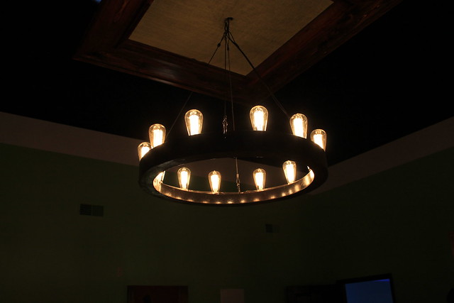 Whiskey Barrel Chandelier