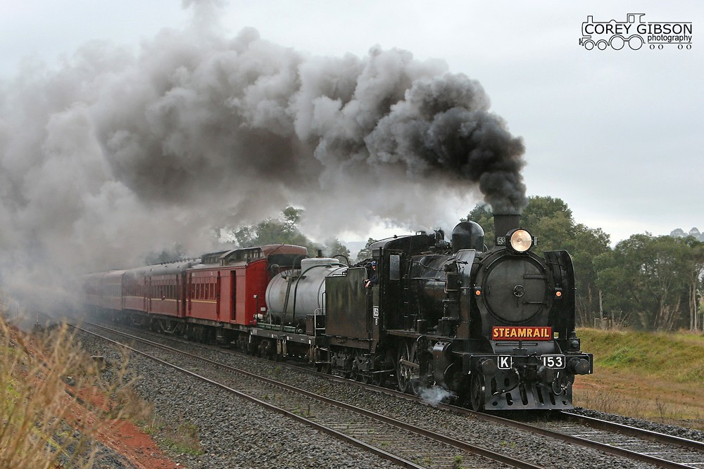 Steamrail K153 trip to Traralgon by Corey Gibson