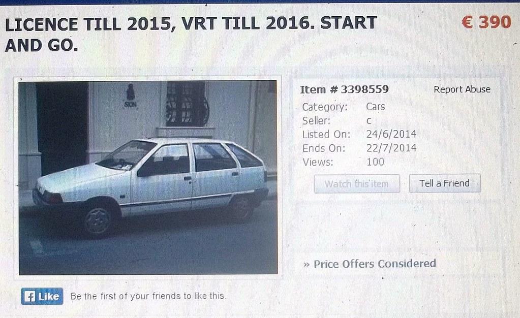RHD Yugo Sana for sale in Malta | The description states