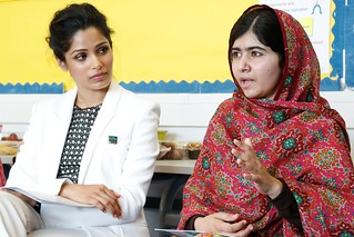 Malala and Freida Pinto meet the Youth For Change panel | by DFID - UK Department for International Development