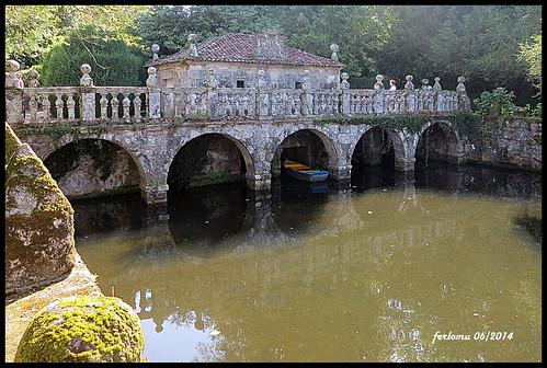 ferlomu galicia jardín pazodeoca pontevedra puente river