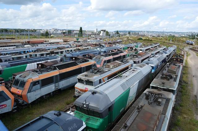 SNCF - Stored Locos - Sotteville-les-Rouen 19.08.14 [in explore]