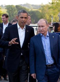 Barack Obama and Vladimir Putin | by theglobalpanorama