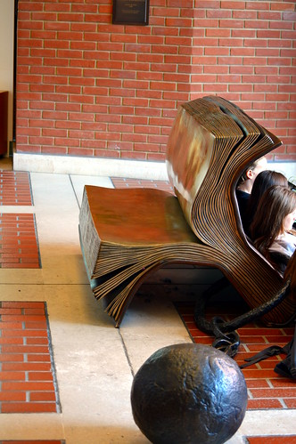 Book Bench with Ball & Chain   by byzantiumbooks