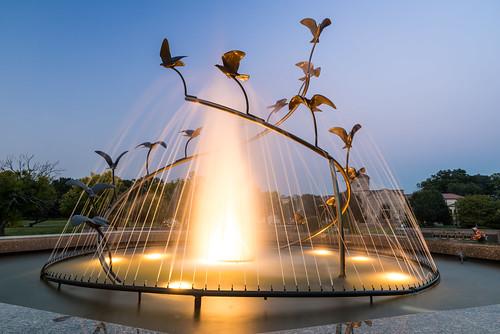flowers trees sunset ohio mist art water fountain cemetery birds nikon memorial unitedstates dusk memories flight spray graves tamron d800 olmstedfalls