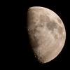 Waxing gibbous Moon, 03/09/2014, from Brixton, South London. by Owen Llewellyn