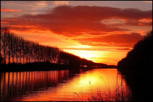 groningslandschap luchten zonsondergang sunset landscape eemskanaal ncg ngc