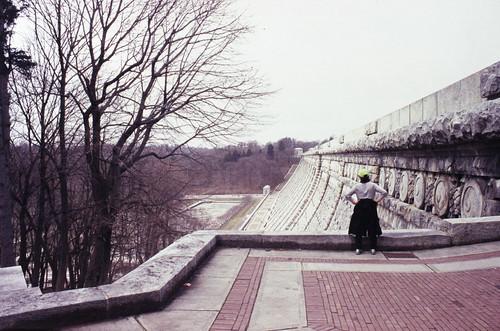 dam e6 epson expiredfilm film fm3a fuji kensico nikon park provia400f scan slidefilm trees v750 view wall watching winter