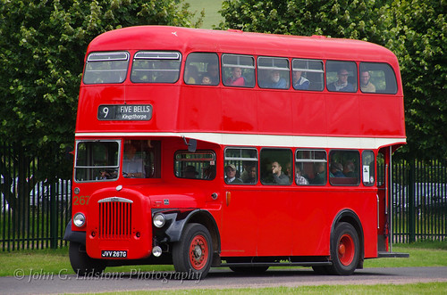 Northampton Daimler CVG6 JVV 267G - the last new Daimler half cab for the UK market (but not last built, KMB having them to 1972) taking part in the St Albans Bus & Coach Preservation gathering June 2014 | by EastBeach68