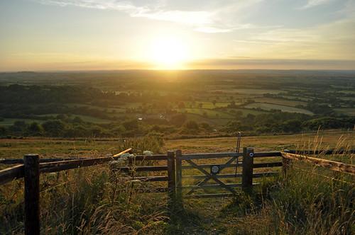 sunset fence landscape golden nikon gate dorset fields goldenhour summersunset 365days coolair 365daysproject 365daysin2014
