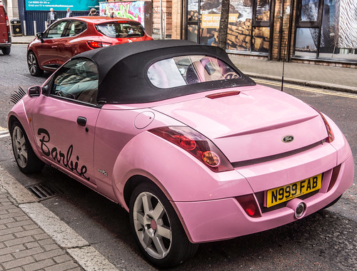 BARBIE'S LITTLE PINK CAR - PHOTOGRAPHED IN BELFAST | by infomatique