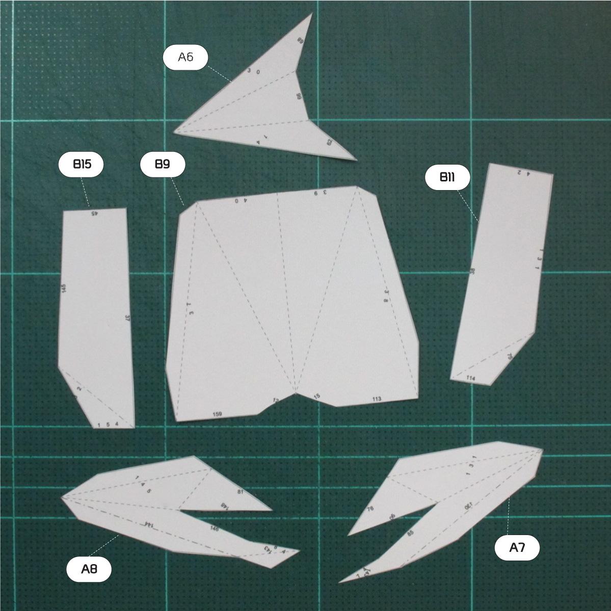 วิธีทำโมเดลกระดาษคุกกี้รันจิ้งจอกเก้าหางในร่างหมาจิ้งจอก (Cookie Run Ninetails Fox Form Papercraft Model) 006