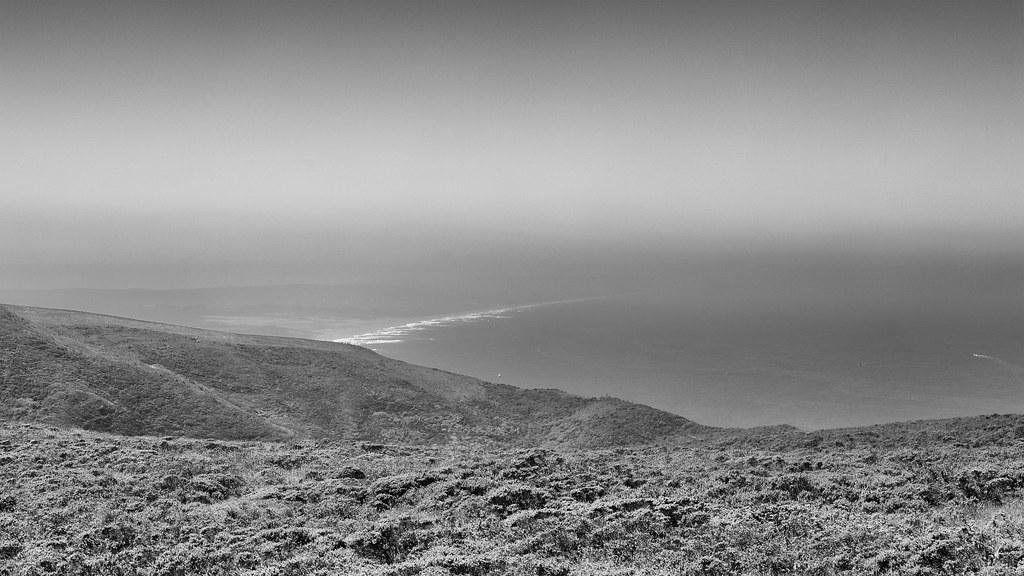 Hazy day at the coast