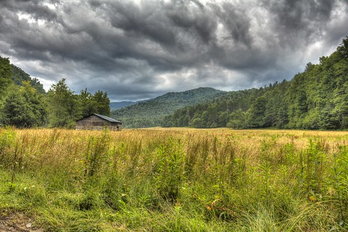 sky tree field grass clouds forest canon cabin northcarolina historic hdr cataloochee photomatix canon60d flutterbye216
