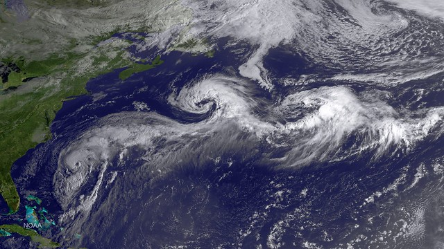Hurricane Cristobal in the Atlantic