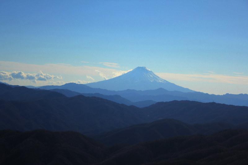 笠取山から富士山