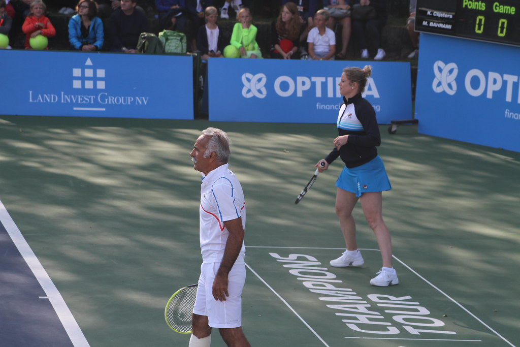 Mansour Bahrami and Kim Clijsters