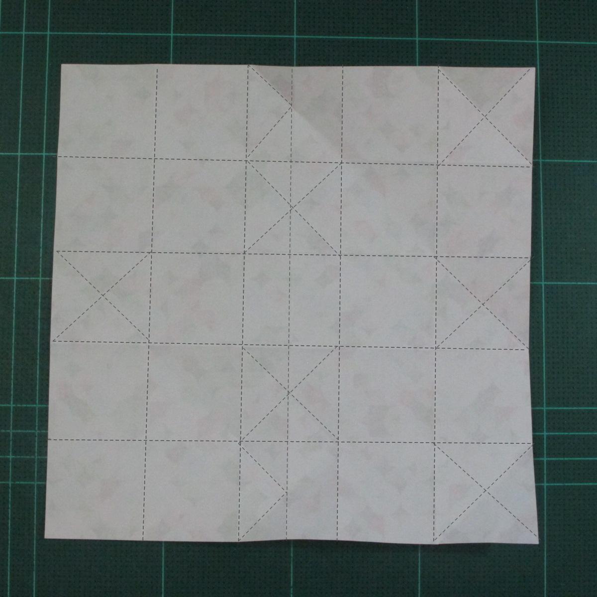 วิธีพับกล่องของขวัญแบบมีฝาปิด (Origami Present Box With Lid) 013