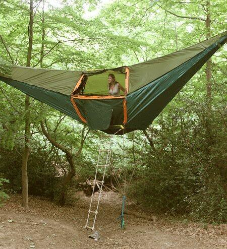 Would you take this hammock tent #camping? Looks a little … | Flickr