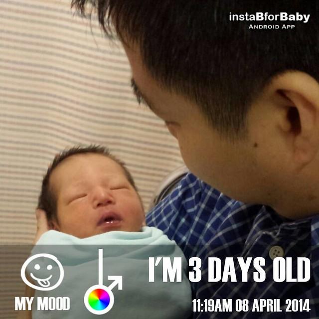 Isaac at 3 days