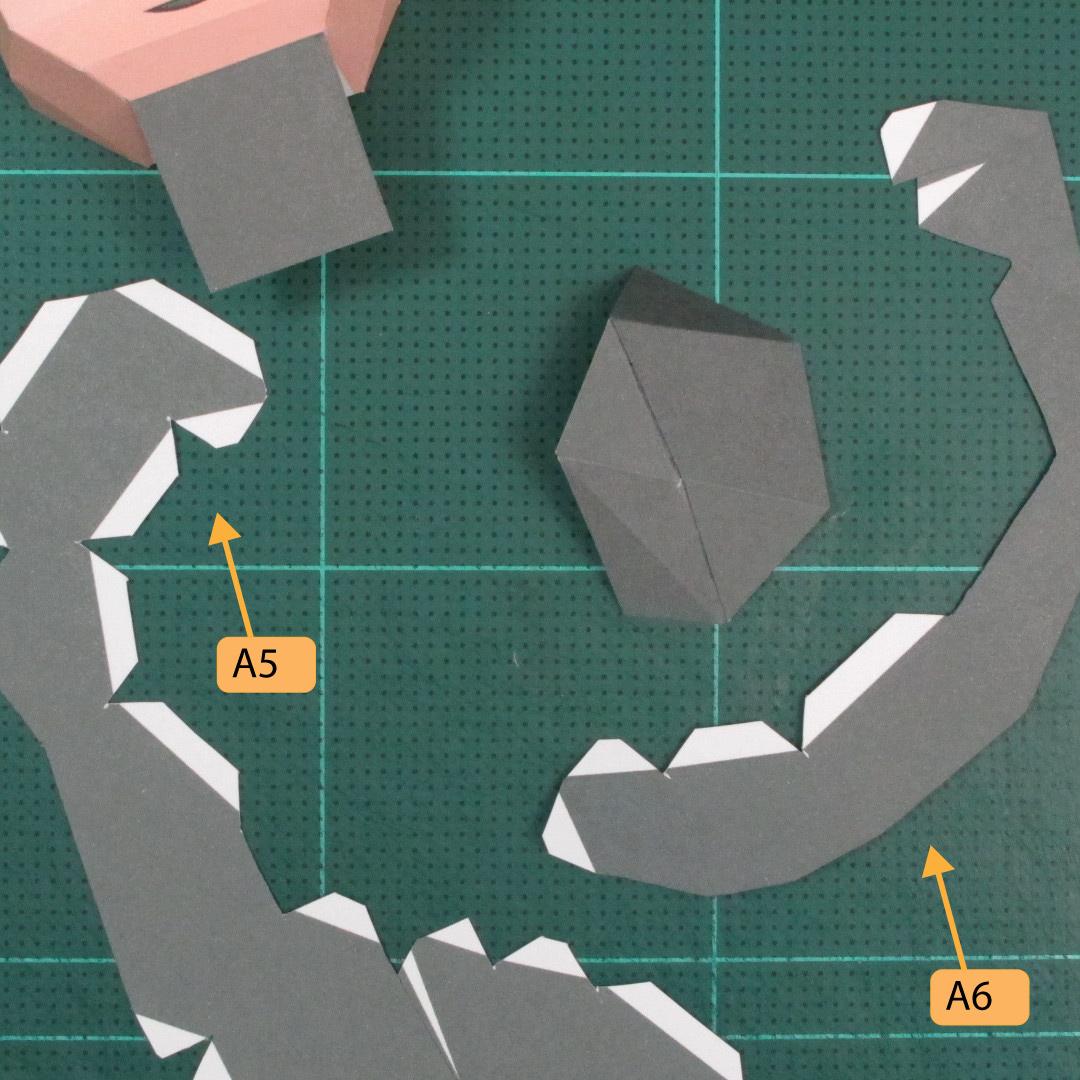 วิธีทำของเล่นโมเดลกระดาษซุปเปอร์แมน (Chibi Superman  Papercraft Model) 011