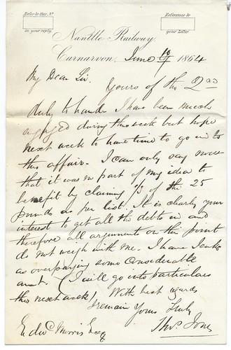 Nantlle Railway letterhead of 1864 | by ian.dinmore