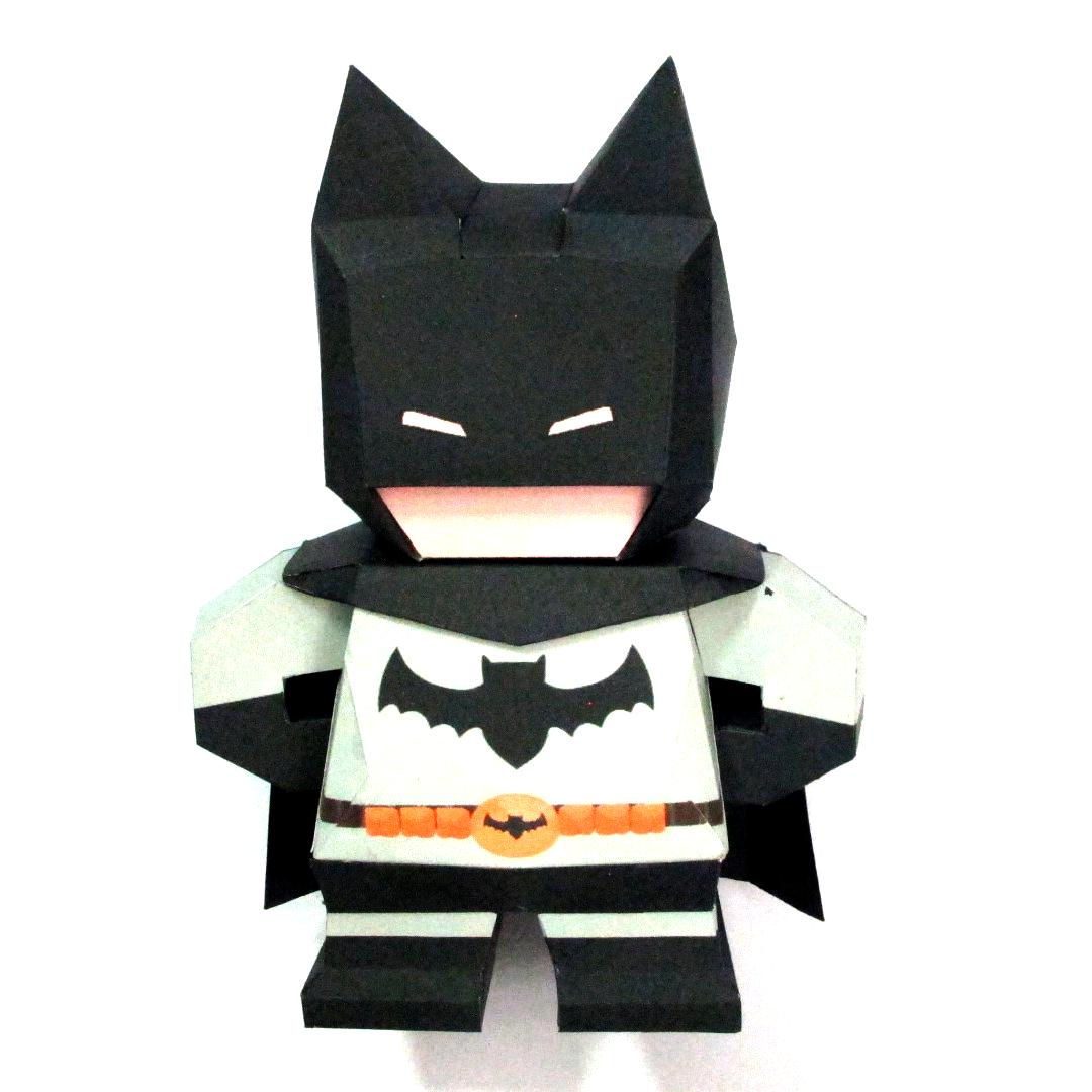 วิธีทำโมเดลกระดาษแบทแมน (Batman Papercraft Model) 023