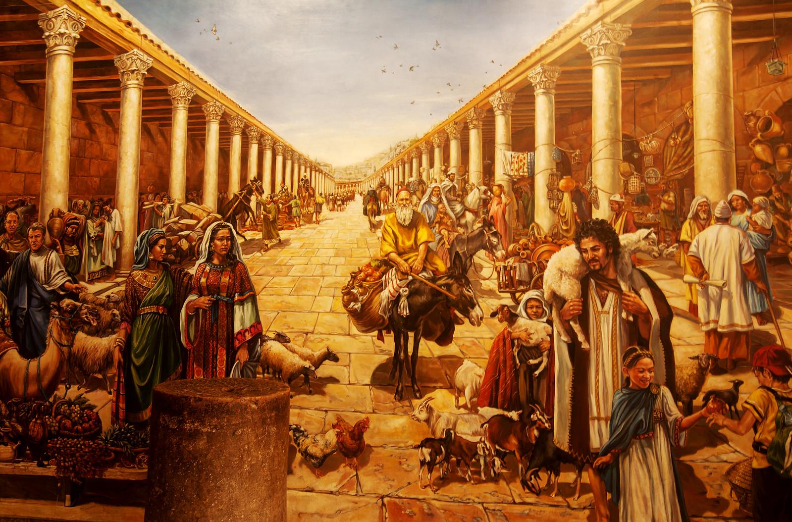 Jerusalem Cardo Painting_Noam Chen_IMOT