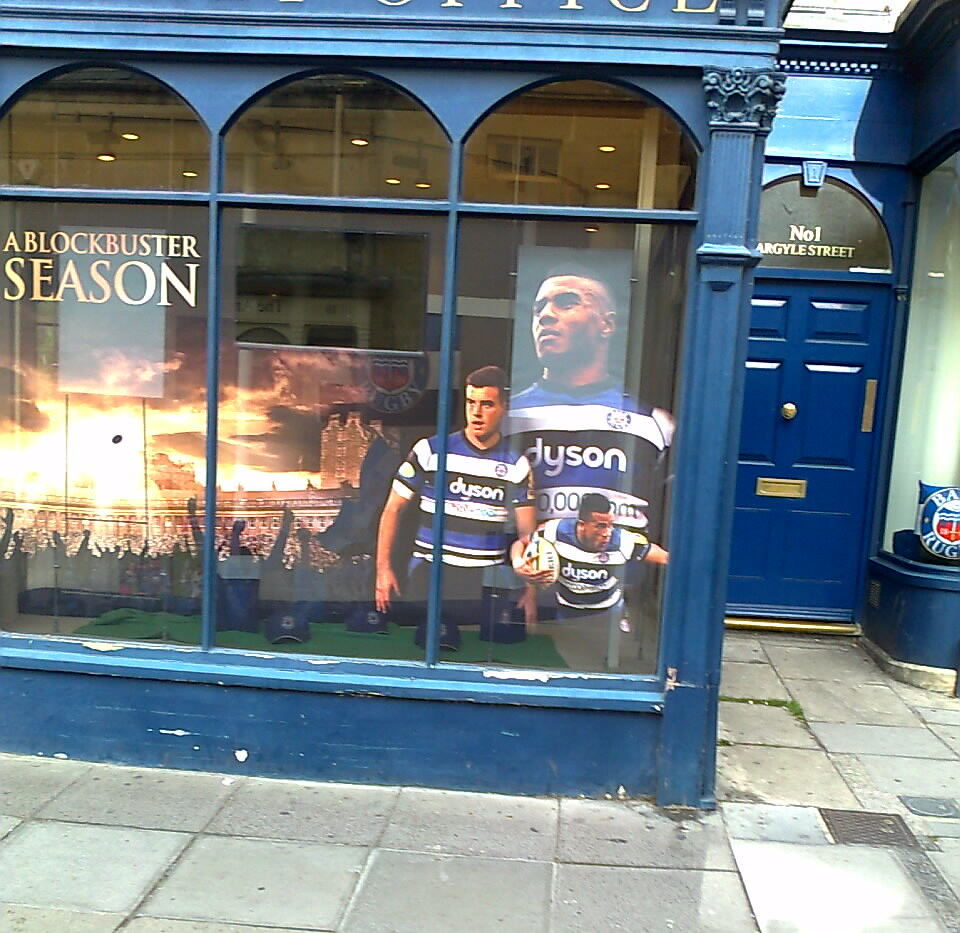 Outside The Bath Rugby Ticket Office