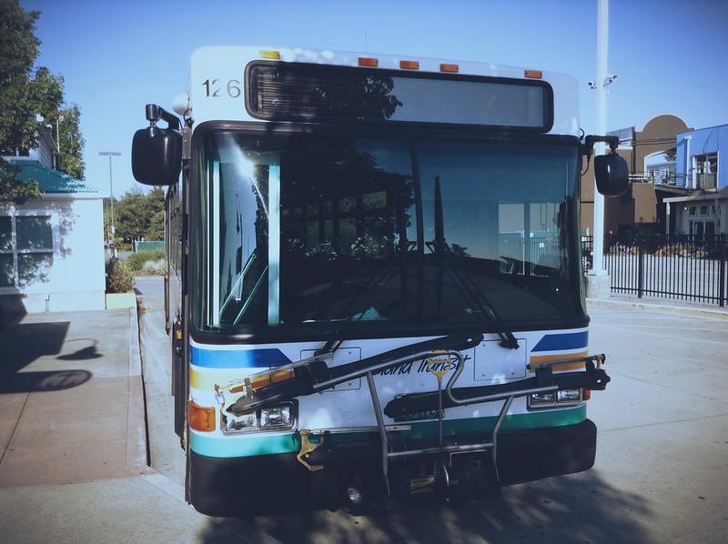 Island Transit Gillig Parked in Oak Harbor...