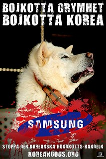 BOYCOTT CRUELTY (Swedish) | by Koreandogs