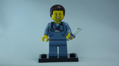 Brick Yourself Bespoke Custom Lego Figure Happy Doctor with Sharp Knife | by BrickManDan