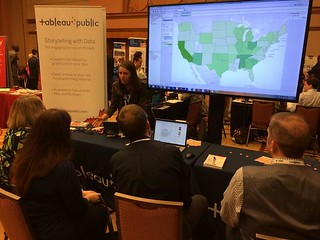 Rock on, Tara! RT @DataRemixed: Here's @tara_lynn_walk getting down to vizness with @tableau at #ONA14 http://t.co/gYJ2RM38k0 | by Tableau Software
