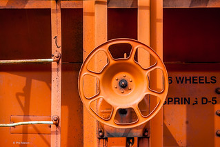 Orange handbrake for railcar | by Phil Marion