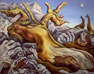 foto de Symbolic Landscape' by Diego Rivera | This surrealist scene… | Flickr