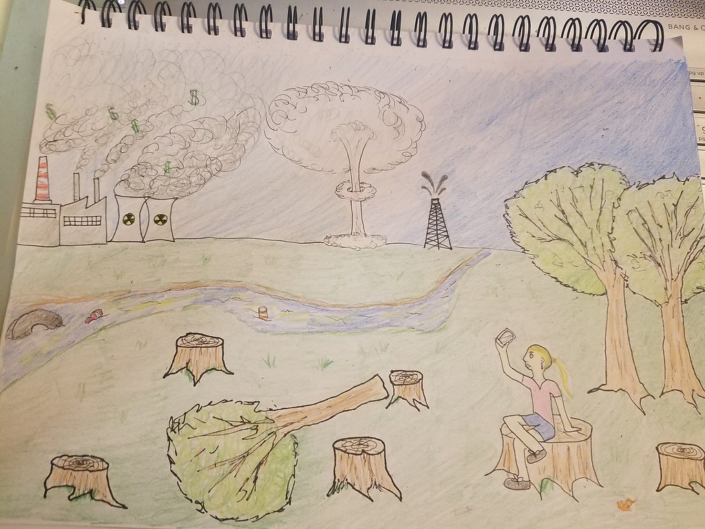 Deforestation drawing