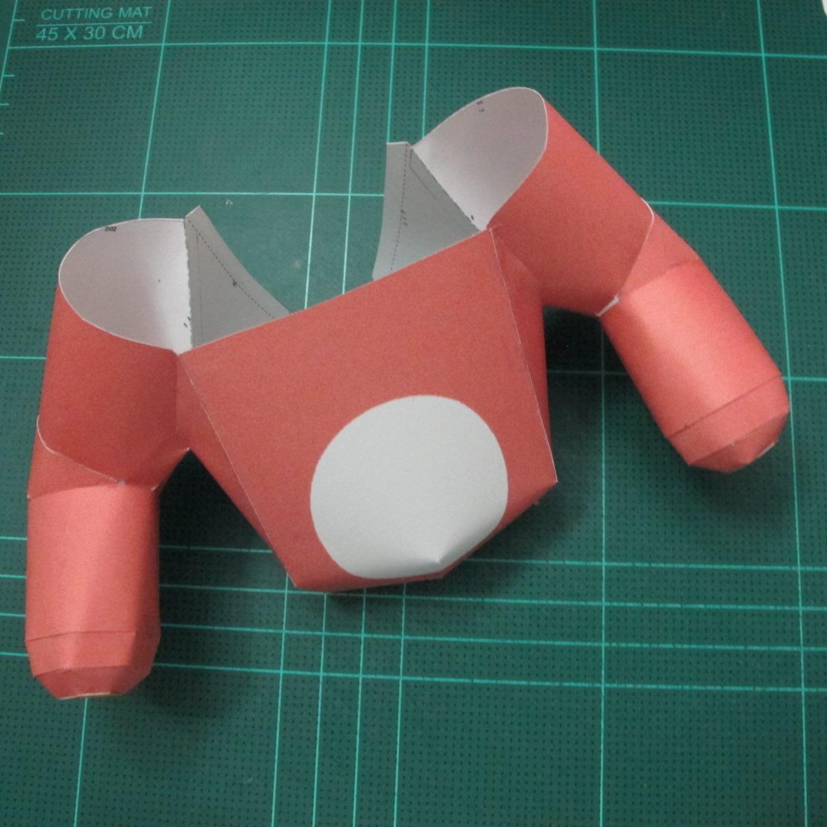 วิธีทำโมเดลกระดาษหมีรีแลกคุมะถือป้าย (Rilakkuma Papercraft Model 1) 009