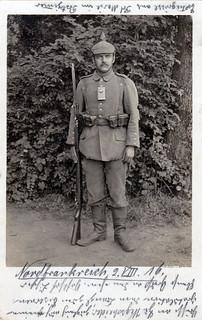 Infanterist Josef Degenhart, Rekrutendepot 6. bayer. Reserve Division, 3. Kompanie, August 1916
