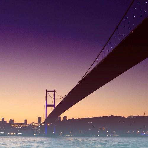 sunset turkey istanbul hazy iphone bosphorusbridge iphoneography
